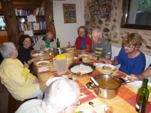 Dinner at Albergue Acacio and Orietta