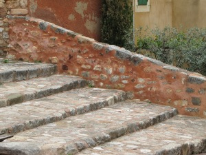 Beautiful old stone steps in Provence