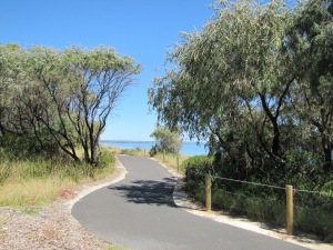 A walking path down to the beach near Busselton