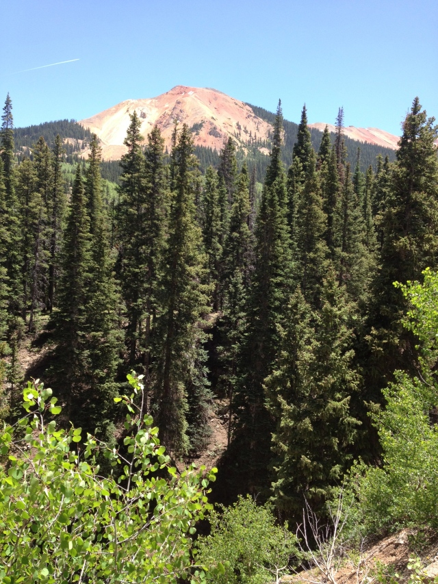 On the Railroad hike (not it's official name), you can see one of the magnificent red mountains