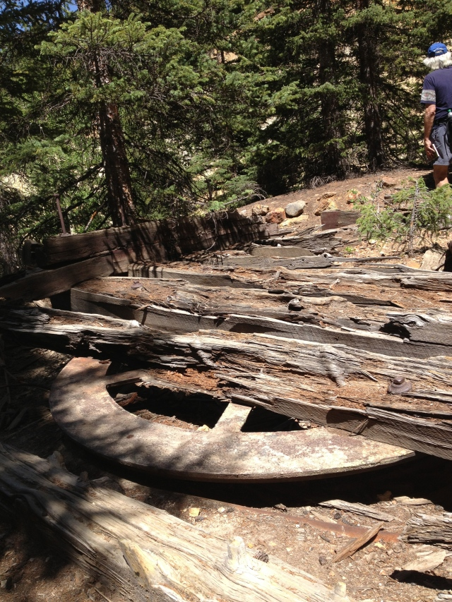 The old railroad turnaround on our hike near Red Mountain Pass