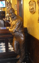 Papa in bronze, but startlingly lifelike!