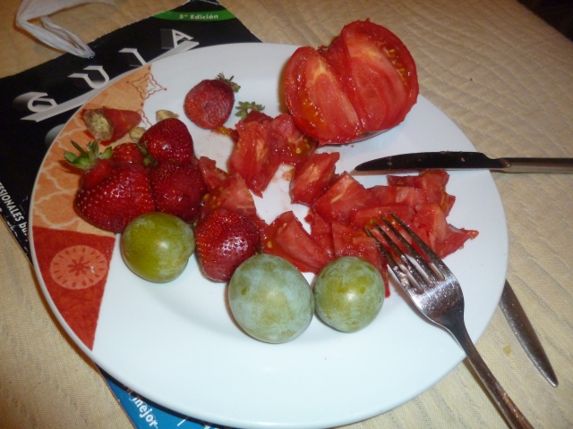 My dinner in bed . . . last night in Leon