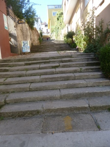 Steps and steps and steps in Sarria.