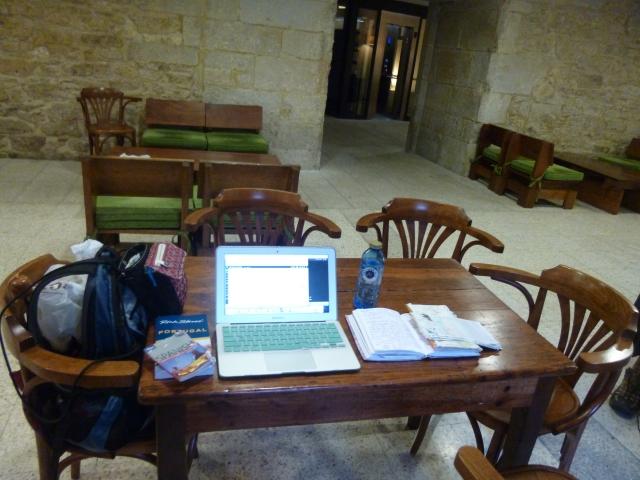The writer and her surrounds - at Seminario Maior - Santiago de Compostela