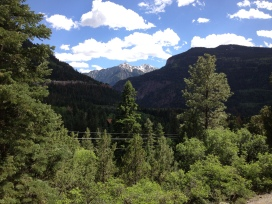View from the cabin - north of Ouray, Coloradoa