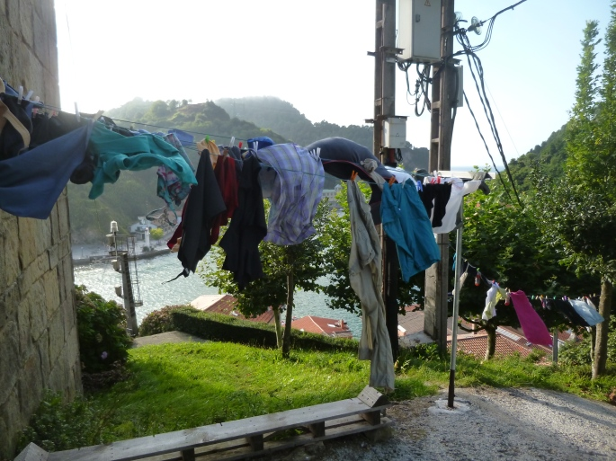 A very windy day for laundry