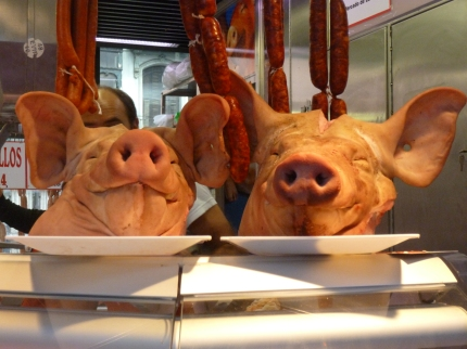 Pig's heads for dinner, darling?