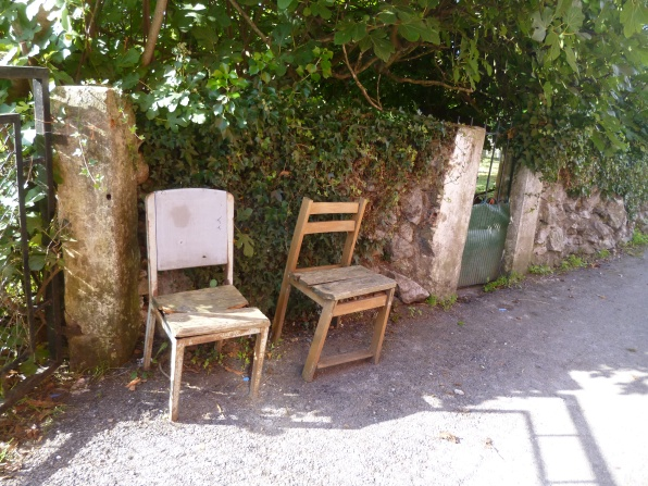 A strange selection of chairs, encouraging us to rest