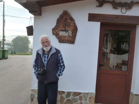 Ernesto Bustio, the proud owner of the Guemes Albergue . . . built 105 years ago