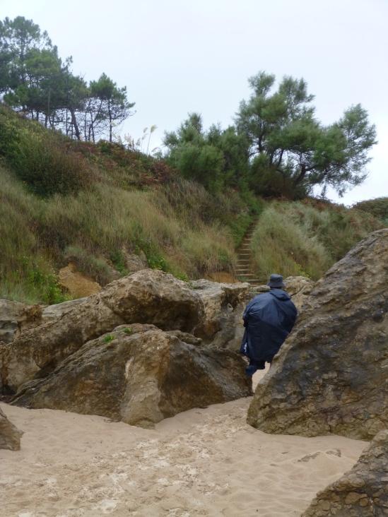 Pilgrims wandering among the rocks