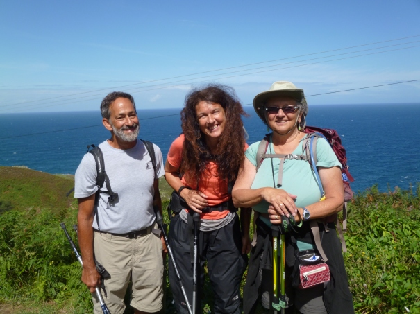 Larry, Erika and Joannah - on the way to Llanes