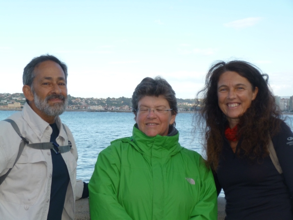 Larry, Ria and Erika in Gijon