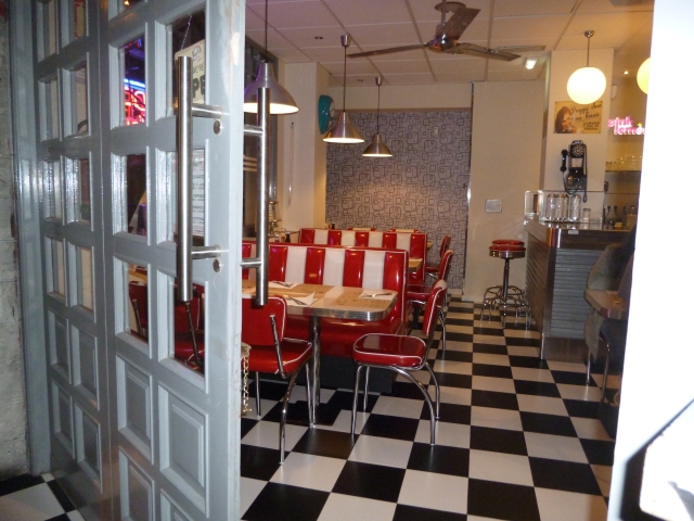The interior of Peggy Sue's restaurant