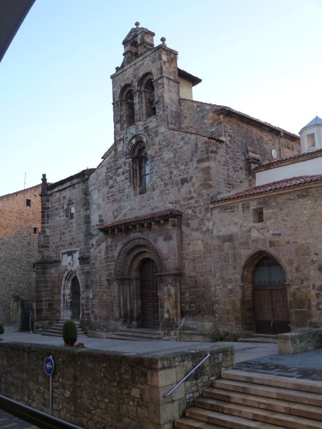 A historic church (aren't they all in Europe?) as I exit Avilés