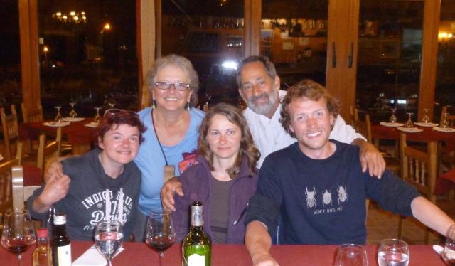 Monika,Joannah, Olga, Larry, Thomas - everyone's last night in Ribadeo but mine