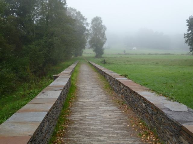 And up close . . . mystical bridge carries its own mist,