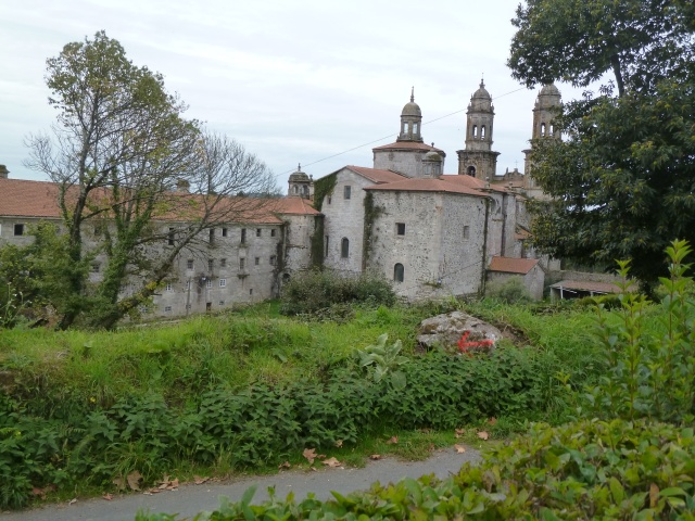 The monastery and cathedral of Sobrado dos Monxes
