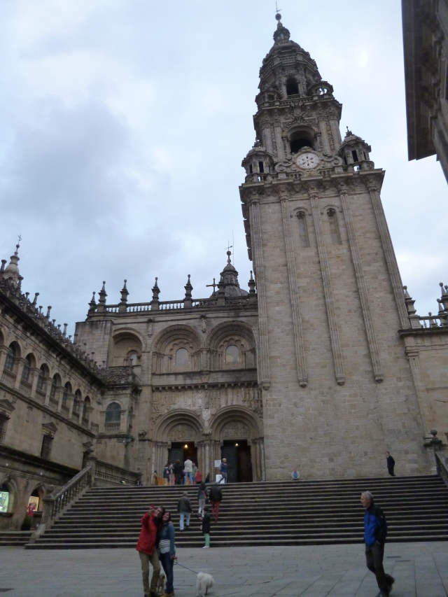 A good glimpse of the Cathedral in Santiago