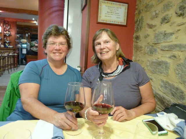Ria and Laurie D - Dinner at an Italian Restaurant in Spain!