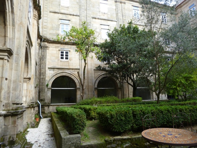 The Garden at the Seminario, surrounded by ancient stone walls